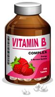Vitamin B Capsule in Container