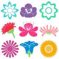 Colourful floral templates