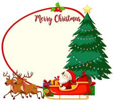 Concept de cadre de joyeux Noël