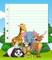 Grensontwerp met veel wilde dieren