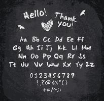 Vectorillustratie van chalked alfabet