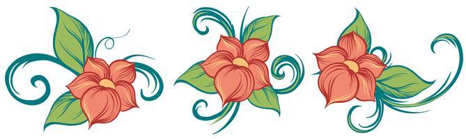 Blommiga dekorer