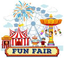 A Fun Fair and Rides