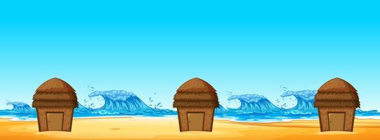 Sem costura da cabana de praia