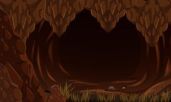 Een rotsgeile donkere grot