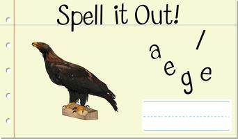Soletrar palavra inglesa eagle