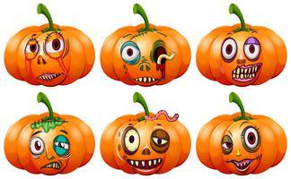 Set van halloween pompoen