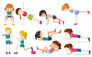 Conjunto de ejercicios de mujer
