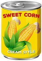 A tin of sweet corn cream style