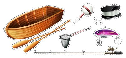 Fishing set with boat and equipments