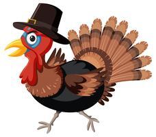 Thanksgiving kalkoen met hoed