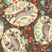 Vektor illustration av söt tvättbjörn.