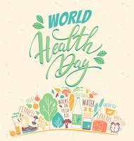 Weltgesundheitstagvektorillustration.