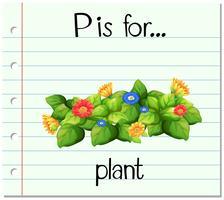 Das Flashcard-Alphabet P ist eine Floranlage