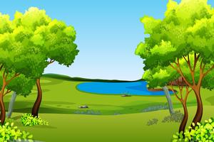 A green nature background