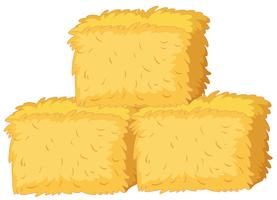 Bales of straw on white background
