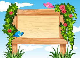 Frame design with birds and vine