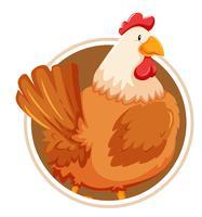 Huhn auf Cirlcle Banner