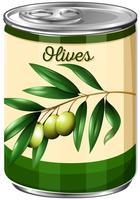 Oliven können auf weißem Hintergrund