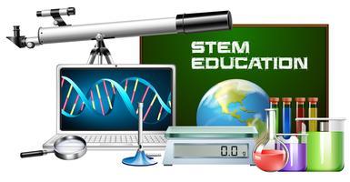 Ensemble de technologie objet tige éducation