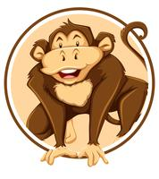 Macaco no modelo de círculo