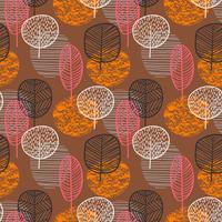Abstrakt höst sömlös mönster med träd.