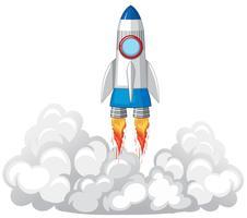 Lancement de fusée dans les nuages