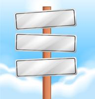 Empty wooden signages