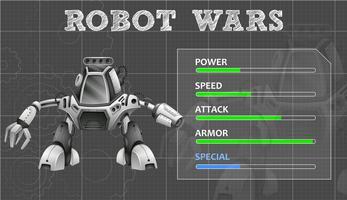 Diseño de robot con muchas características.