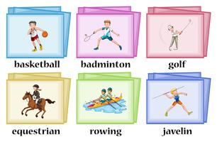 Wordcards for many sports