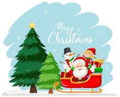 Concepto de tarjeta de feliz navidad