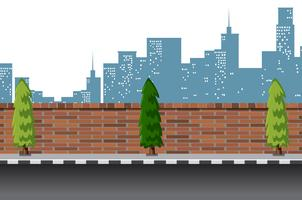 Urban street road scene vector