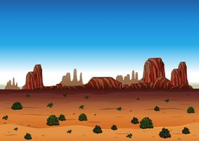 Background scene with canyon and field