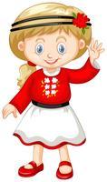 Liten tjej i Ukrain outfit