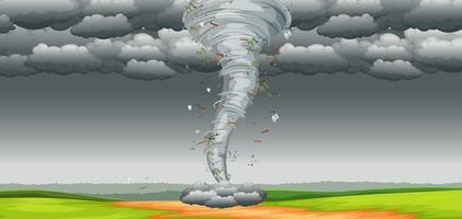 En tornado i naturen