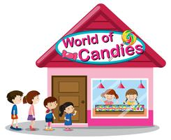 World of candies store