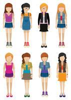 Acht Mädchen ohne Gesichter