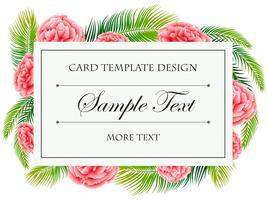 Kartenvorlage mit rosa Blüten