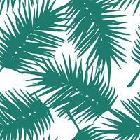 Naadloos exotisch patroon met tropische palmbladen.
