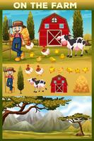Bonde och djur på jordbruksmarken
