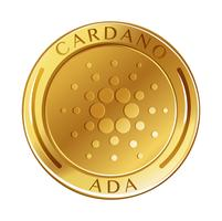 Cardano Coin on White Background