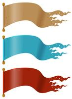 Drei Flaggen in verschiedenen Farben