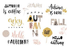 Herbst. Vektor-Briefgestaltung.