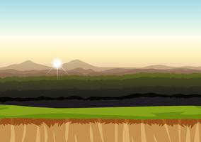 Un fond de paysage de plaine