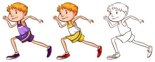 Gekritzelcharakter für Läufer