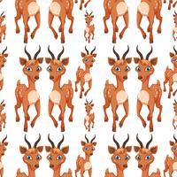 Een hert op naadloos patroon
