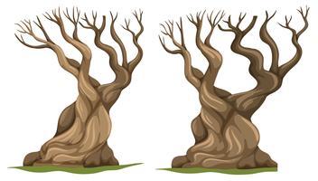 Set of dead tree vector