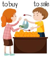 Fruit seller selling oranges vector