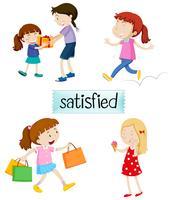 Sats av nöjda människor
