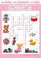 A cute toys crossword template